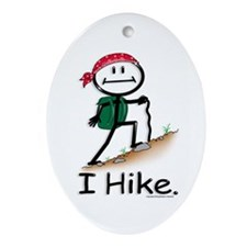 Hiking Oval Ornament