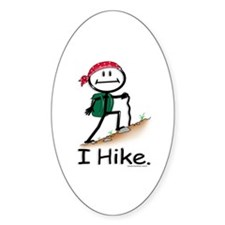 BusyBodies Hiking Oval Decal