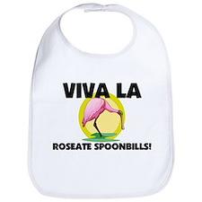 Viva La Roseate Spoonbills Bib