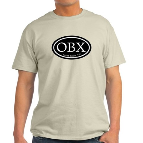 OBX Outer Banks, NC Oval Light T-Shirt