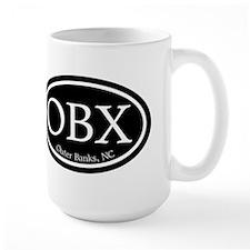 OBX Outer Banks, NC Oval Mug