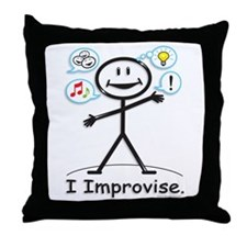 BusyBodies Improv/Comedy Throw Pillow