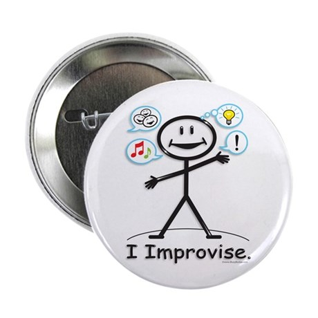 """BusyBodies Improv/Comedy 2.25"""" Button (100 pack)"""