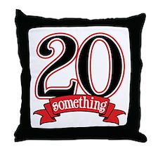 20 Something 21st Birthday Throw Pillow