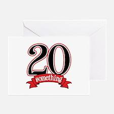 20 Something 21st Birthday Greeting Cards (Pk of 2