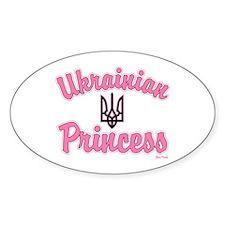Ukie Princess Oval Decal