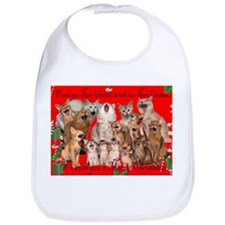 Merry Christmas Somali kittens Bib