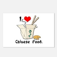 I Heart (Love) Chinese Food Postcards (Package of