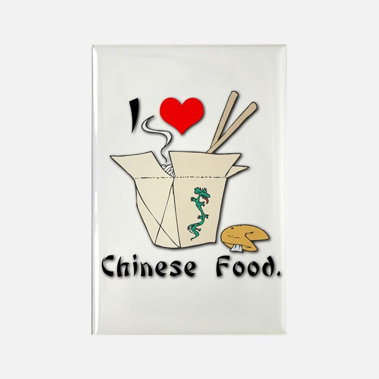 I Heart (Love) Chinese Food Rectangle Magnet