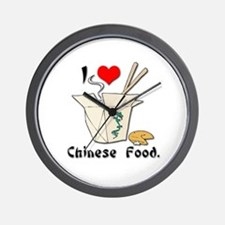 I Heart (Love) Chinese Food Wall Clock