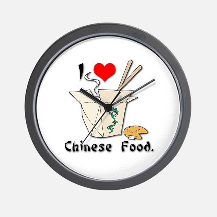I Heart (Love) Chinese Food Wall Clock