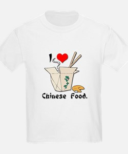 I Heart (Love) Chinese Food Kids T-Shirt