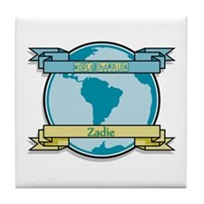 World Champion Zadie Tile Coaster