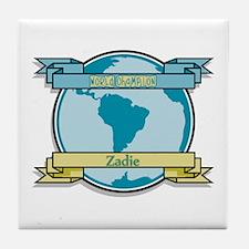 World Champion Zadie Tile Coaster