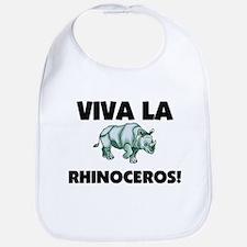 Viva La Rhinoceros Bib