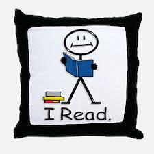 BusyBodies Reading Throw Pillow