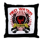 Red Water Tragedy Throw Pillow