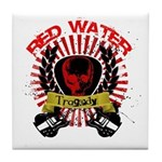 Red Water Tragedy Tile Coaster