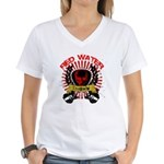 Red Water Tragedy Women's V-Neck T-Shirt