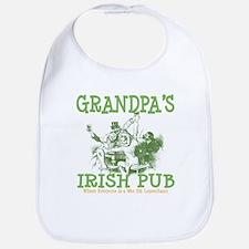 Grandpa's Irish Pub Personalized Bib