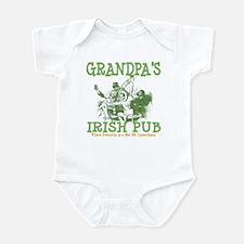 Grandpa's Irish Pub Personalized Infant Bodysuit