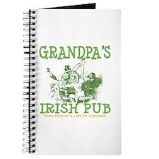 Grandpa's Irish Pub Personalized Journal
