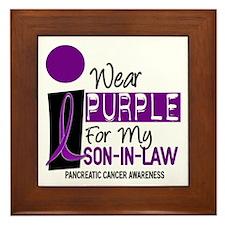 I Wear Purple For My Son-In-Law 9 PC Framed Tile