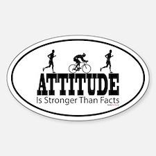 Attitude is Stronger Duathlon Oval Decal