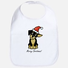 Christmas Puppy Bib