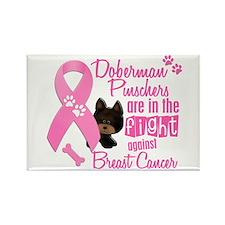 Dobermans Against Breast Cancer 2 Rectangle Magnet