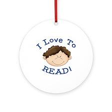 Boy Love to Read Ornament (Round)