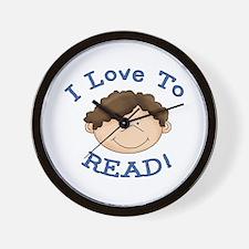 Boy Love to Read Wall Clock