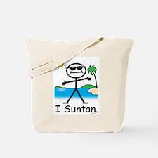 Suntan Stick Figure Tote Bag