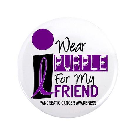"I Wear Purple For My Friend 9 PC 3.5"" Button"