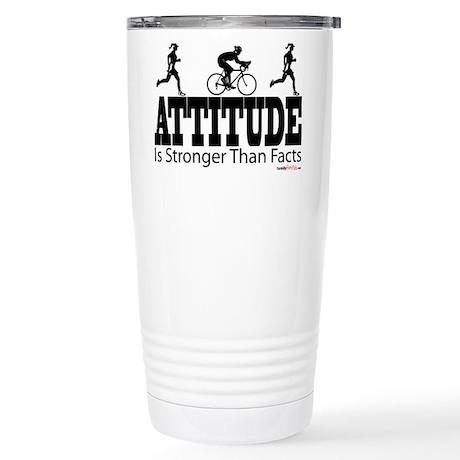 Attitude is Stronger Duathlon Stainless Steel Trav