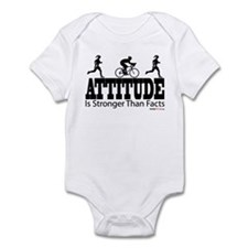 Attitude is Stronger Duathlon Infant Bodysuit