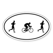 Men's Duathlon Oval Decal