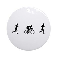 Men's Duathlon Ornament (Round)