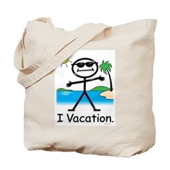 Vacation Stick Figure Tote Bag