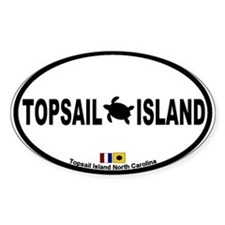 Topsail Island NC Oval Decal