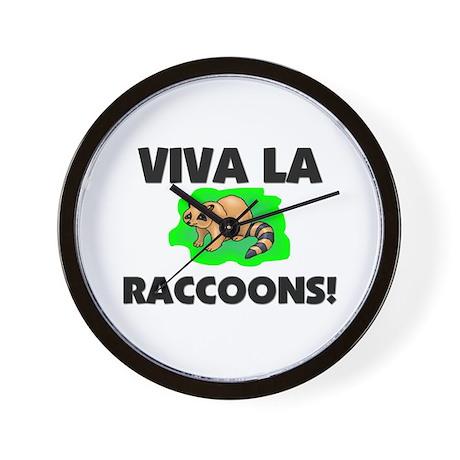 Viva La Raccoons Wall Clock