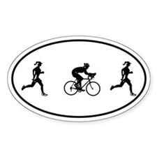 Women's Duathlon Oval Decal