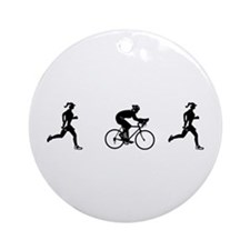 Women's Duathlon Ornament (Round)