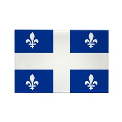 QUEBECOIS [French-Canadian] F Rectangle Magnet (10