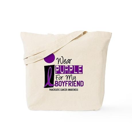I Wear Purple For My Boy Friend 9 PC Tote Bag