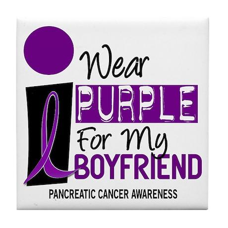 I Wear Purple For My Boy Friend 9 PC Tile Coaster