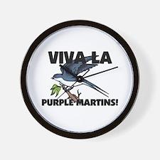 Viva La Purple Martins Wall Clock