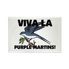 Viva La Purple Martins Rectangle Magnet