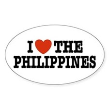 I Love the Philippines Oval Decal
