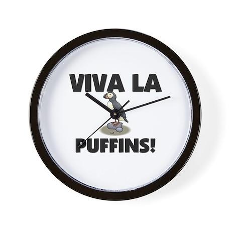 Viva La Puffins Wall Clock